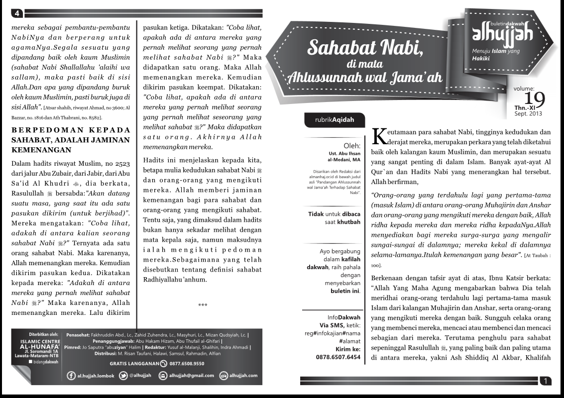 Download Buletin Al-Hujjah volume 16,17,18 dan 19